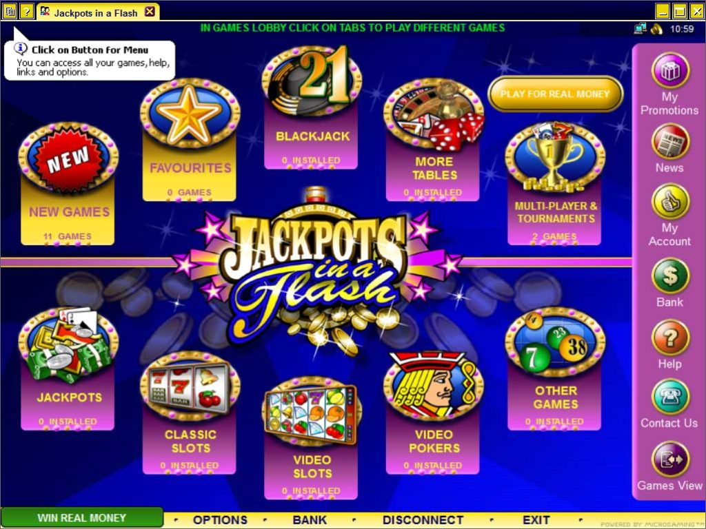 Jackpots in flash